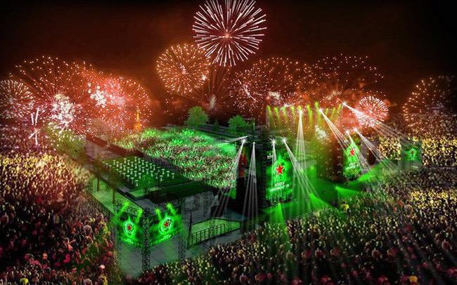bia Heineken còn thường xuyên tài trợ cho các sự kiện âm nhạc lớn tầm quốc tế.