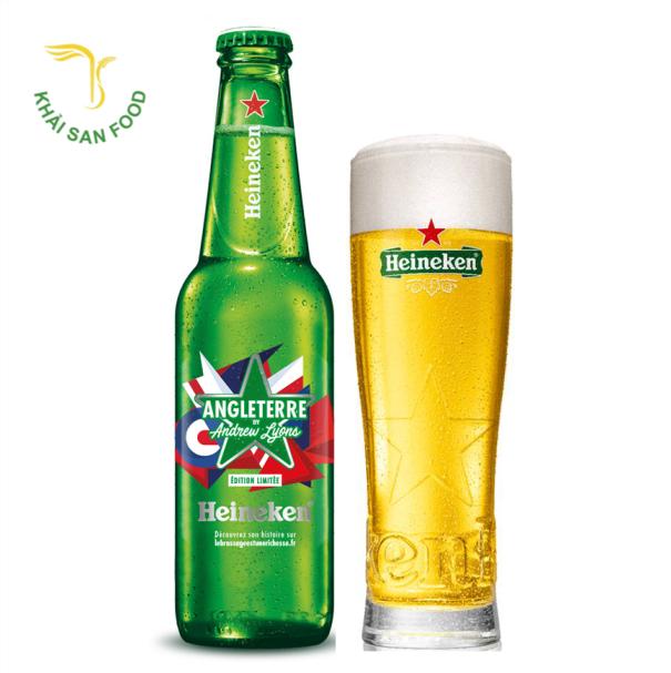 bia Heineken Pháp cũng có nồng độ cồn 5% và chai bia thường có dung tích nhỏ chỉ cỡ 250 ml.