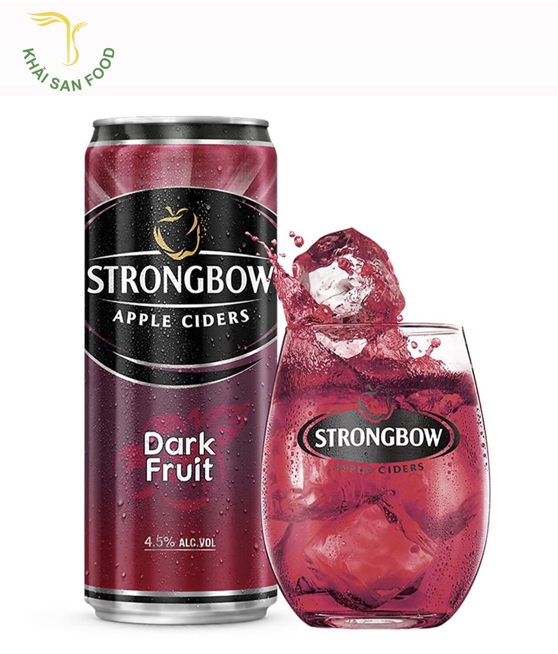 Strongbow dâu đen là hương vị phải nói là đột phá cũng là Strongbow giá sỉ cao nhất so với những vị còn lại.