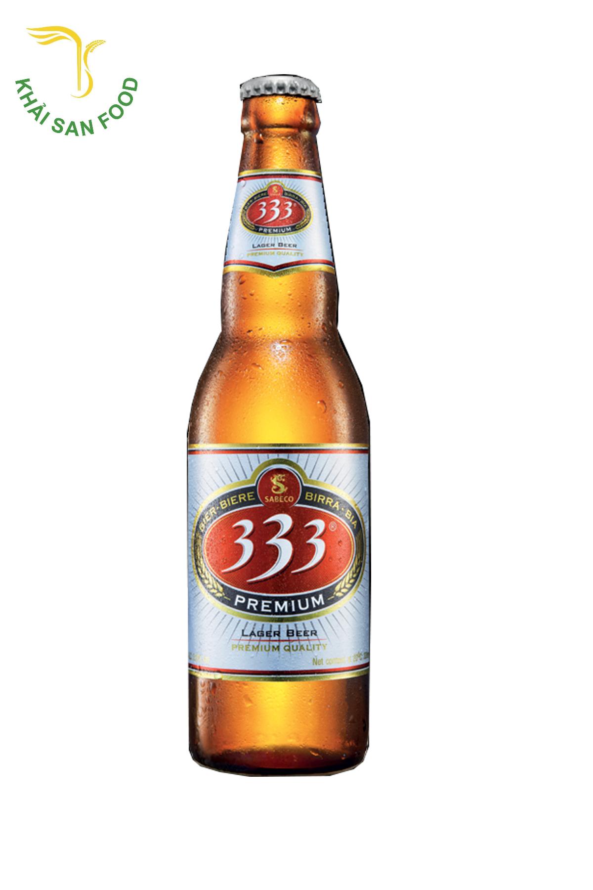 Giá bia 333 một két 20 chai có giá: 200.000đ