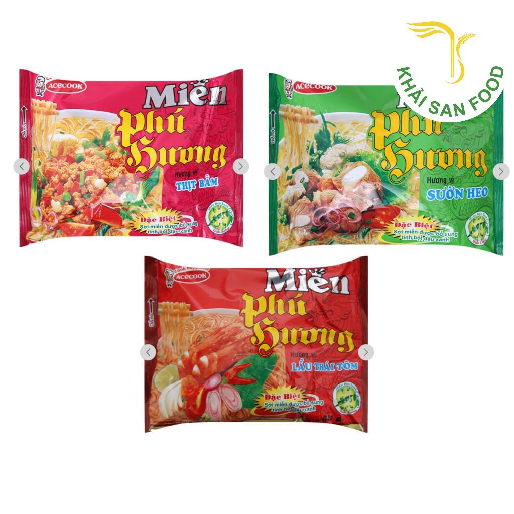 Nổi bật trong số các thực phẩm ăn liền nhà Acecook, thương hiệu nhận được rất nhiều sự yêu thích và ủng hộ từ khách hàng. Không gì khác ngoài sản phẩm đóng gói chất lượng miến Phú Hương.