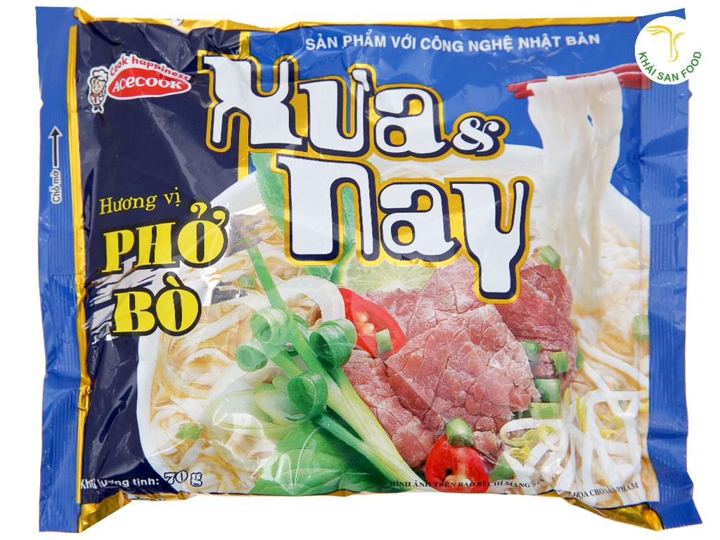 Phở Xưa và Nay - Một sản phẩm phở ăn liền tiêu biểu của Acecook